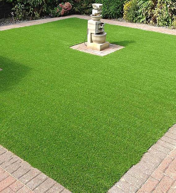 Green polyester uv resistant artificial lawn grass: