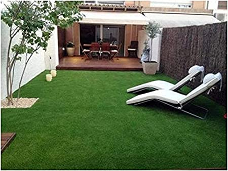 Yazlyn collection 6.5 x 3 feet high - density polyester blend artificial grass: