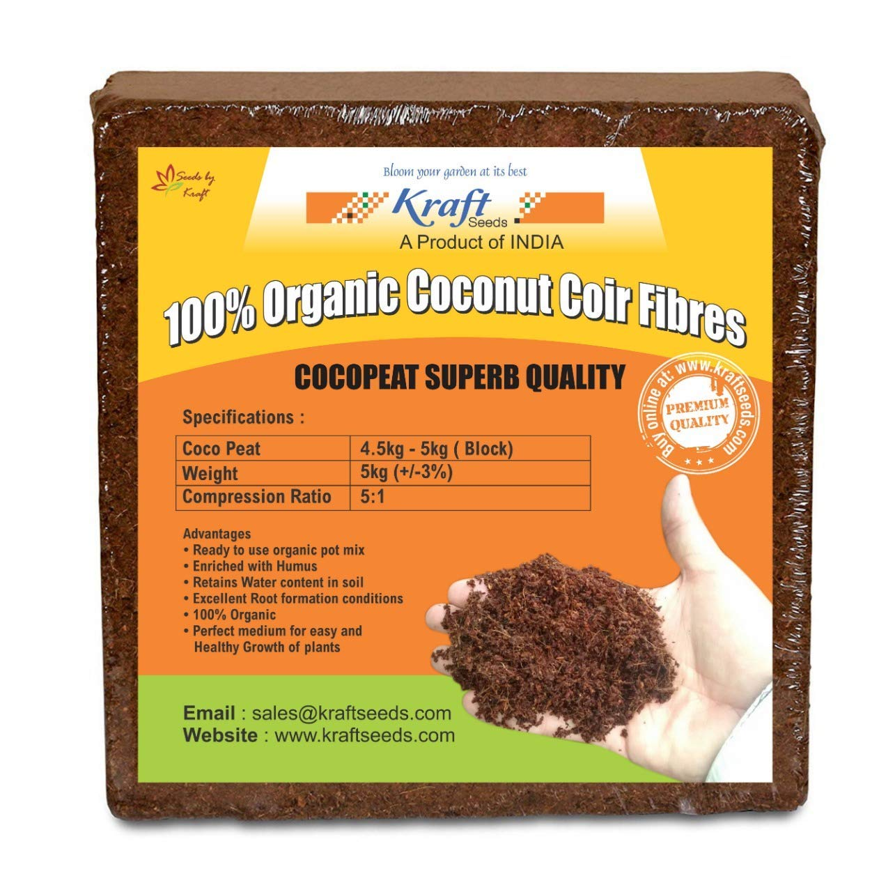 Kraft seeds agro peats/ coco peat: