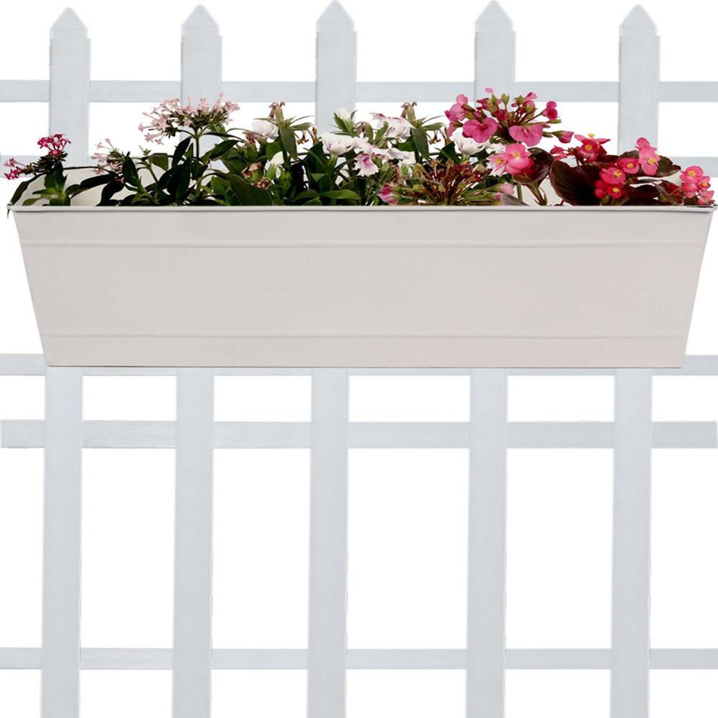 Trustbasket rectangular railing planter: