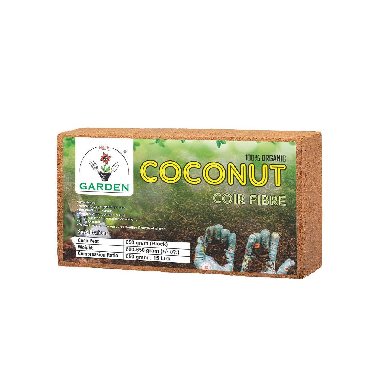 Gate garden coco peat block: